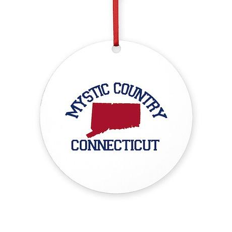 Mystic CT - Map Design. Ornament (Round)