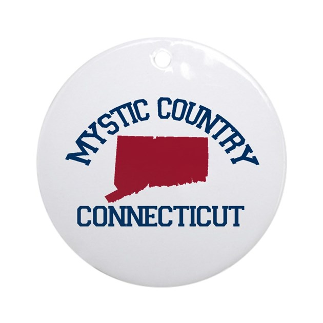 Mystic Ct Map Design Ornament Round By Ivacations