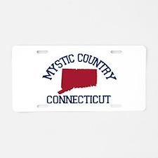 Mystic CT - Map Design. Aluminum License Plate