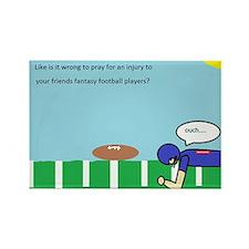 fantasy football wish list Rectangle Magnet