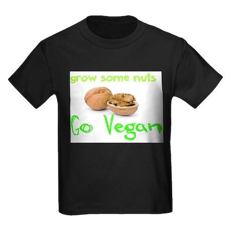 Go Vegan grow some nuts 1 Kids Dark T-Shirt