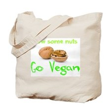 Go Vegan grow some nuts 1 Tote Bag
