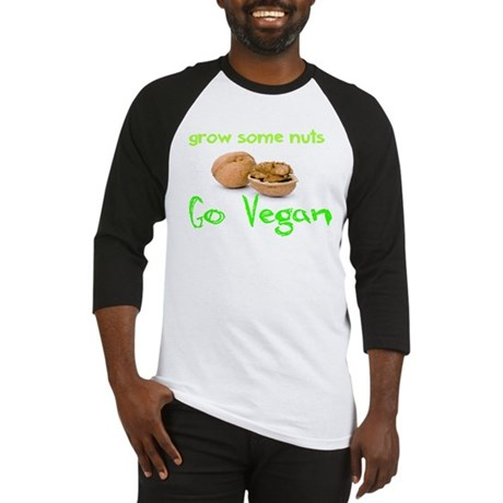 Go Vegan grow some nuts 1 Baseball Jersey