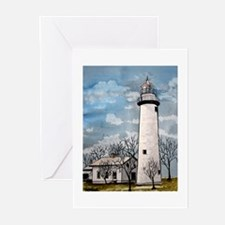 pointe_aux_Barques_Lighthouse.jpg Greeting Cards (