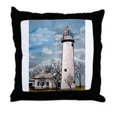 pointe_aux_Barques_Lighthouse.jpg Throw Pillow