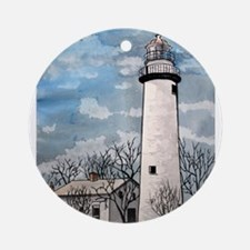 pointe_aux_Barques_Lighthouse.jpg Ornament (Round)