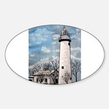pointe_aux_Barques_Lighthouse.jpg Sticker (Oval)