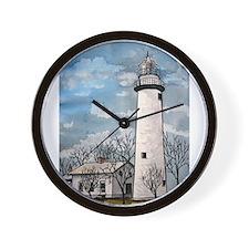 pointe_aux_Barques_Lighthouse.jpg Wall Clock