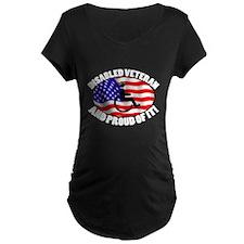Proud Disabled Veteran WHT T-Shirt