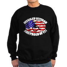 Proud Disabled Veteran WHT Sweatshirt
