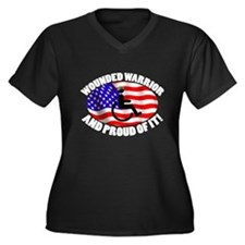 Proud Wounded Warrior Women's Plus Size V-Neck Dar