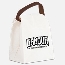 LAMOUR black Canvas Lunch Bag
