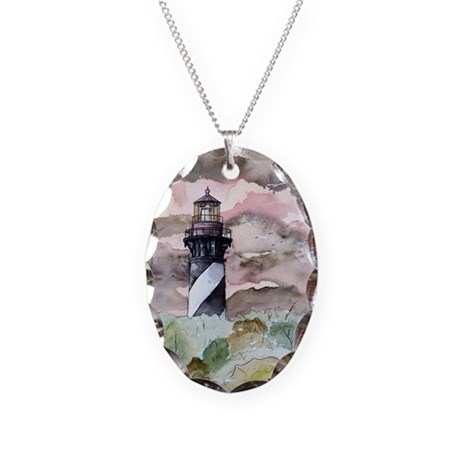 st_augustine_lighthouse.jpg Necklace Oval Charm
