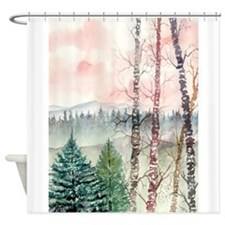 birch_tree_painting_large.jpg Shower Curtain