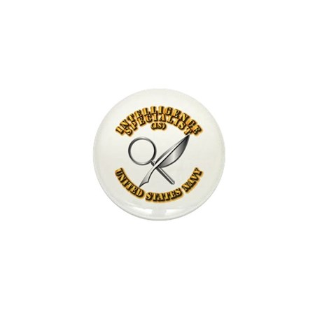 Navy - Rate - IS Mini Button (100 pack)