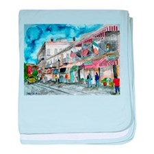 savannah river street painting baby blanket