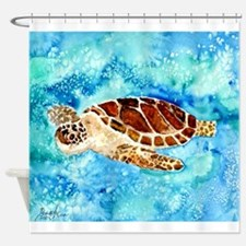 paintings of sea turtles and gifts Shower Curtain