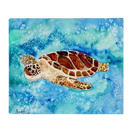 paintings of sea turtles and gifts Throw Blanket