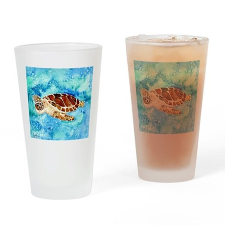 paintings of sea turtles and gifts Drinking Glass
