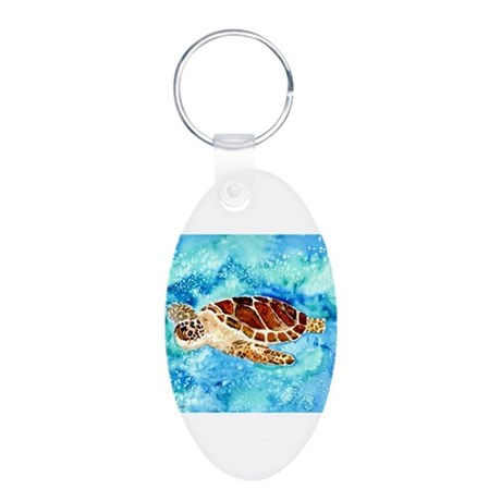 paintings of sea turtles and gifts Aluminum Oval K