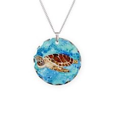 paintings of sea turtles and gifts Necklace
