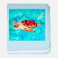 paintings of sea turtles and gifts baby blanket