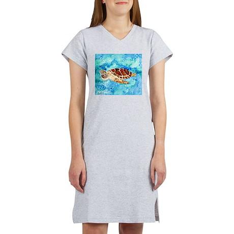 paintings of sea turtles and gifts Women's Nightsh