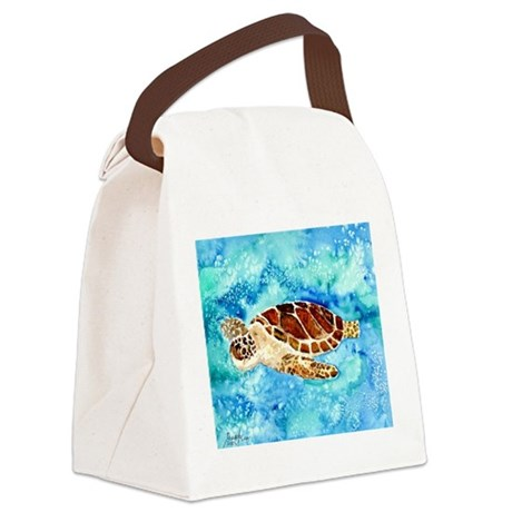 paintings of sea turtles and gifts Canvas Lunch Ba