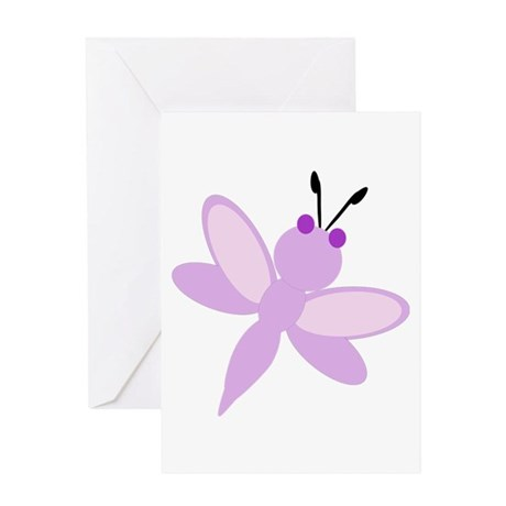 Purple Dragonfly Greeting Card