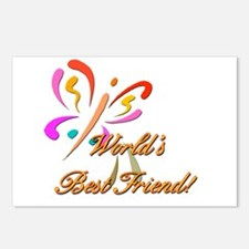 Worlds Best Friend Postcards (Package of 8)