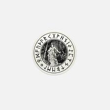 Freya Rune Shield Mini Button