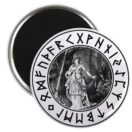 "Freya Rune Shield 2.25"" Magnet (10 pack)"