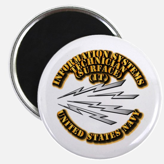 """Navy - Rate - IT 2.25"""" Magnet (10 pack)"""