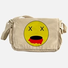 Zombie Smiley Face Messenger Bag