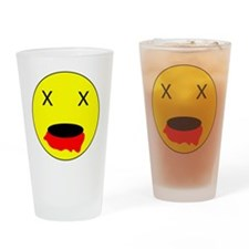 Zombie Smiley Face Drinking Glass