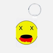 Zombie Smiley Face Keychains