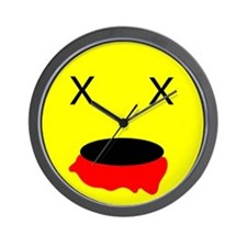 Zombie Smiley Face Wall Clock