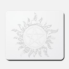Cracked Anti-Possession Symbol Light Mousepad