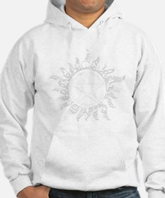 Cracked Anti-Possession Symbol Light Hoodie