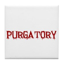 I'd Rather Be In Purgatory Light Tile Coaster