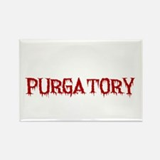 I'd Rather Be In Purgatory Light Rectangle Magnet
