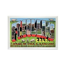 Fort Collins Colorado Greetings Rectangle Magnet (