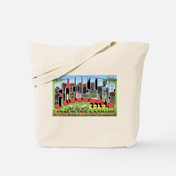 Fort Collins Colorado Greetings Tote Bag