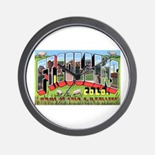 Fort Collins Colorado Greetings Wall Clock