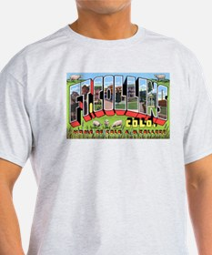 Fort Collins Colorado Greetings (Front) Ash Grey T