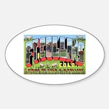 Fort Collins Colorado Greetings Oval Decal