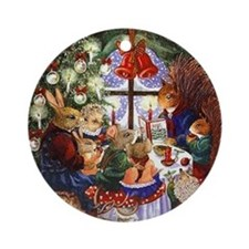 Mouse Family Christmas Ornament (Round)