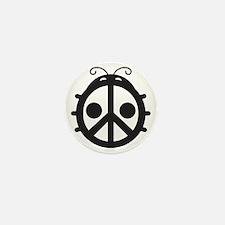 Ladybug PEACE Sign Mini Button