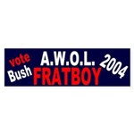 Vote Bush: AWOL Fratboy Bumper Sticker