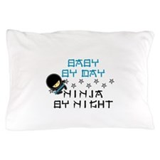 Baby Ninja Blue Pillow Case